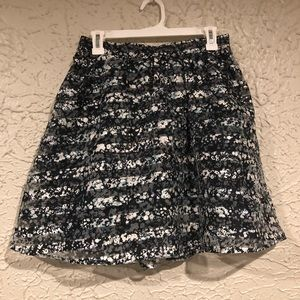 Black striped/floral skirt